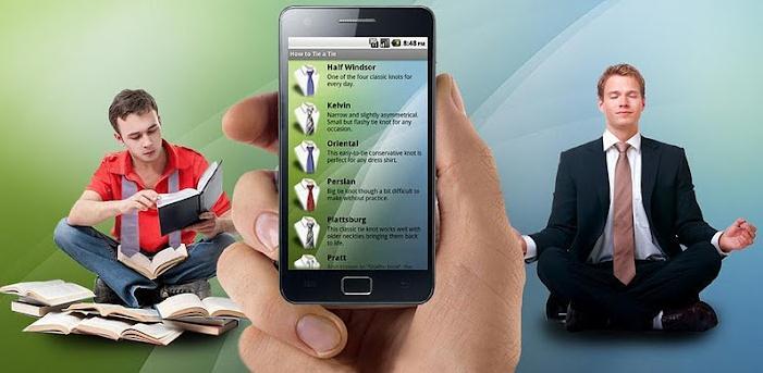 Apprendre faire un n ud de cravate avec android les for Heure miroir 08h08