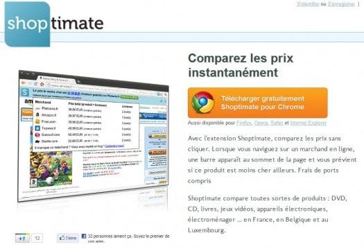 Un comparateur de prix intégré à son navigateur, Shoptimate