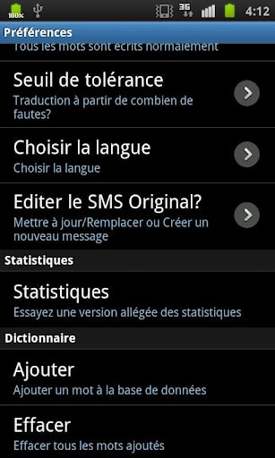 corrrecteur-sms-android-options