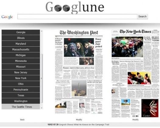 La une des grands journaux américains en page d'accueil