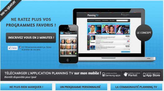 Ne plus rater aucun programme TV, Planning TV