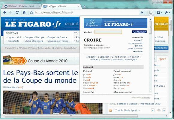 Extension Pour Conjuguer Tous Les Verbes Depuis Chrome