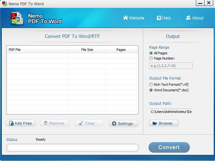 Convertir un fichier pdf en format word