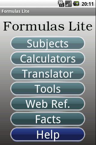 android-formulas-lite
