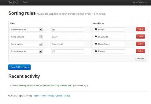 sortbox-interface