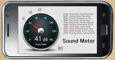 Un programme android pour mesurer les d cibels sound meter - Application pour mesurer les decibels ...