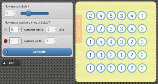 Un générateur de grilles de loterie, Lottery Number