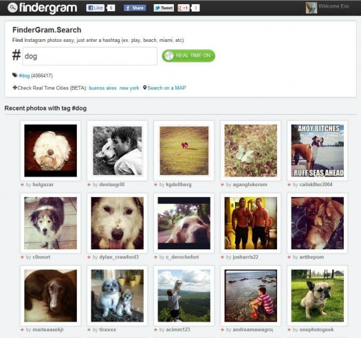 Un moteur de recherche pour Instagram, Findergram