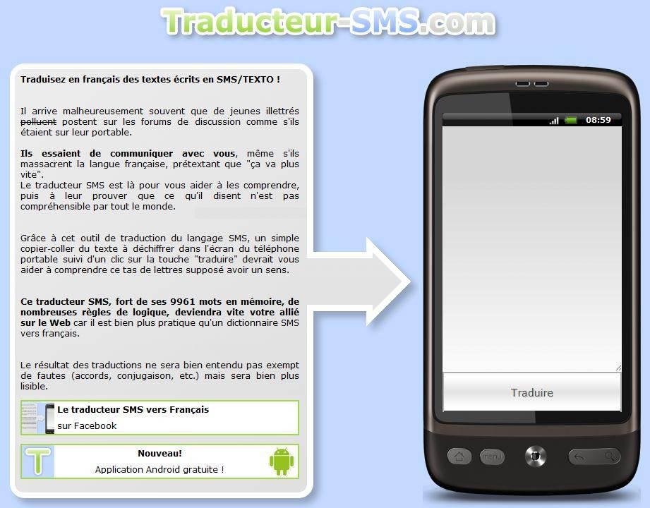Traduire le langage sms traducteur sms vers le fran ais - Recevoir les sms d un autre portable ...