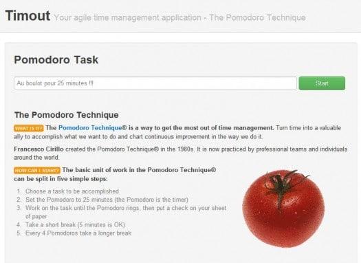 Application Chrome pour travailler selon la méthode Pomodoro