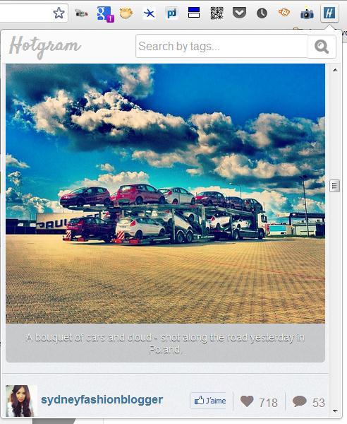 Voir les photos les plus populaires d'Instagram dans Chrome