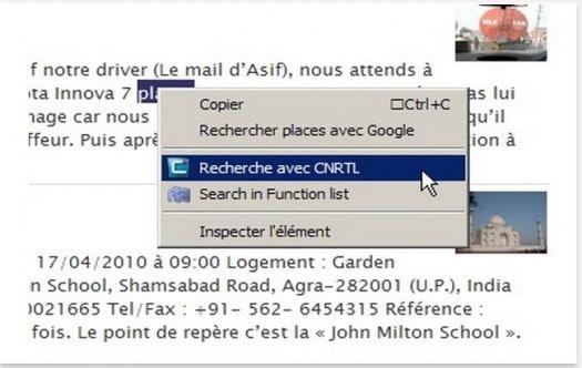 Des dictionnaires complets depuis Chrome, Cnrtl.fr