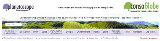 Statistiques originales écologiques mondiales en temps réel