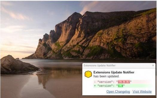 Etre informé quand une extension Chrome se met à jour