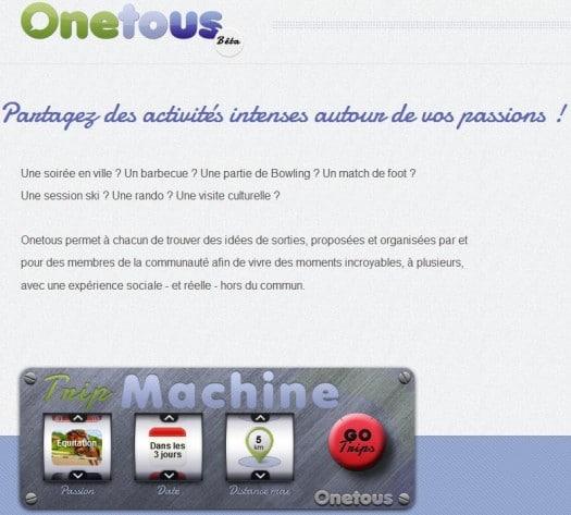 Un réseau social de proximité, Onetous