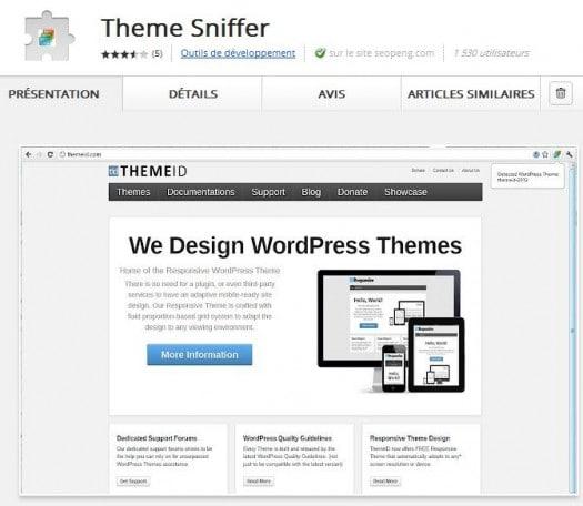 Une extension Chrome pour identifier le thème d'un blog