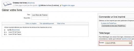 wikipedia-export-livre