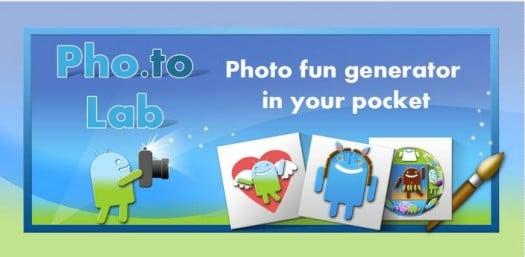 450 effets photos en ligne pour Android, Pho.to Lab