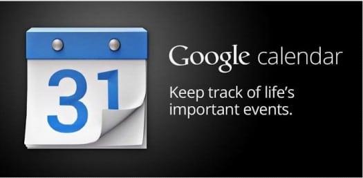 Google Calendar, disponible sur Android
