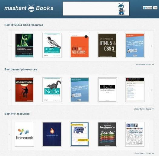 Des ebooks gratuits sur le développement Web, Mashant Books