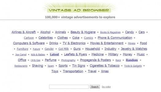 120 000 publicités anciennes, Vintage Ad Browser