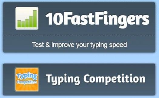 Tester sa vitesse de frappe au clavier, 10 Fast Fingers