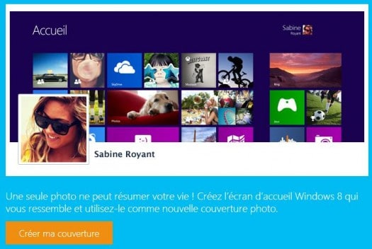 Une image de couverture style Windows 8 pour Facebook