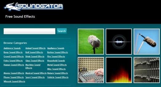 Des effets sonores gratuits, SoundGator