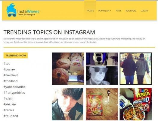 Suivre les tendances sur Instagram, InstaWaves