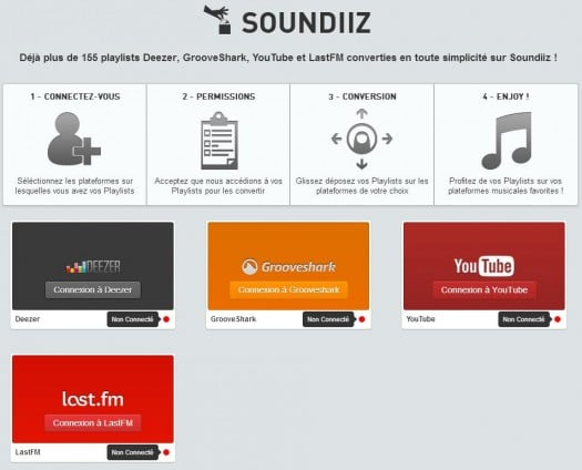 Conversion de Playlists en ligne, Soundiiz