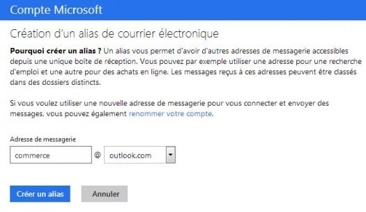 outlook-alias-messagerie