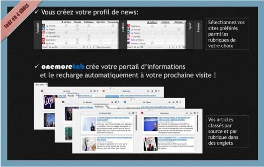 Se créer son propre portail de news, Onemoretab