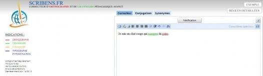 Correcteur orthographique et grammatical en ligne, Scribens