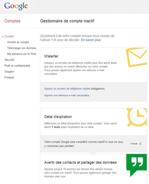 google-gestionnaire-compte-inactif