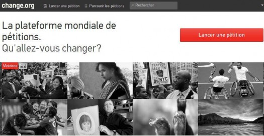 Pétitionner en ligne, Change.org