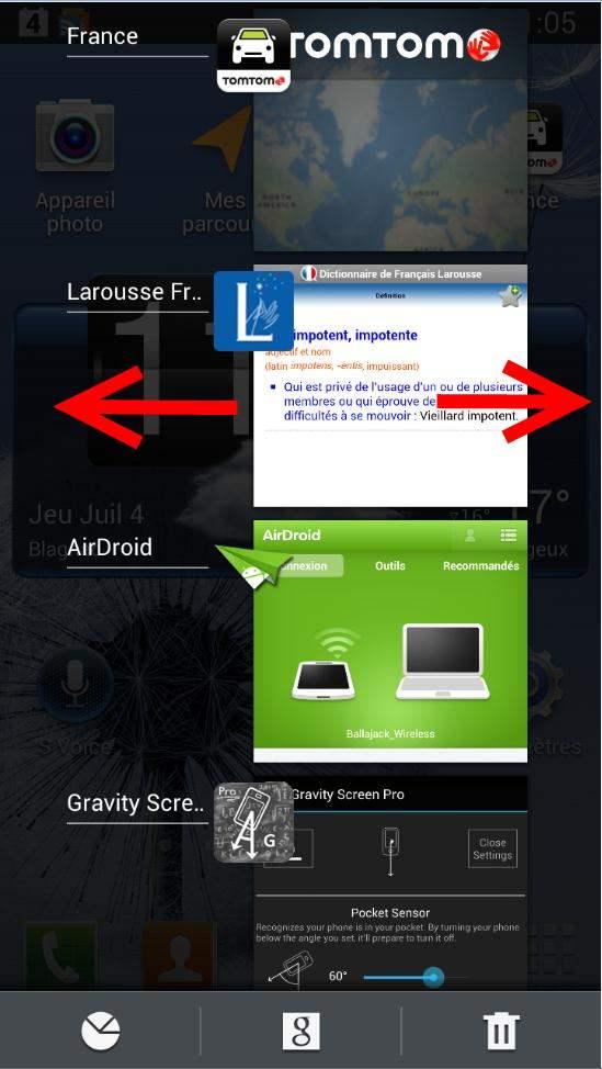 Supprimer une appli des applis android r cemment ouvertes for Supprimer les vers
