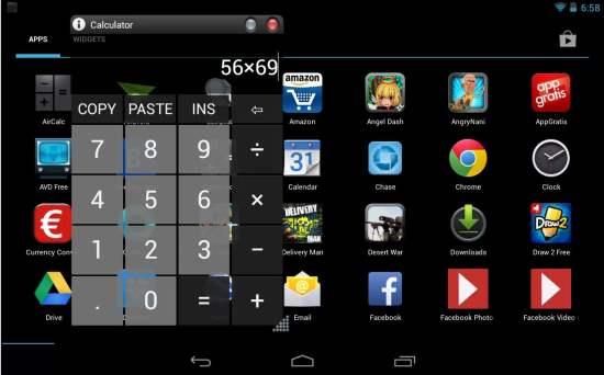 Une mini calculatrice flottante pour Android