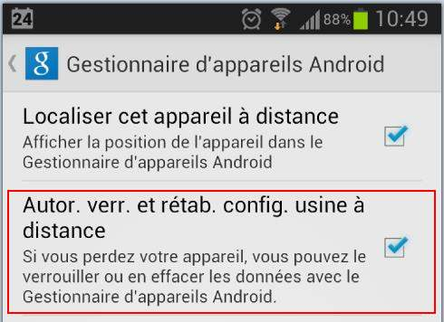 android-mot-passe-distance