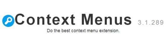 Piloter le menu contextuel de Chrome, Context Menus