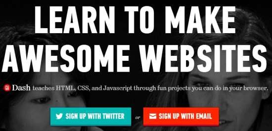 Apprendre à faire des sites Web, Dash