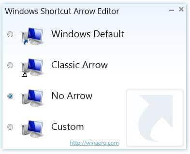 Supprimer ou modifier la flèche sur les raccourcis Windows
