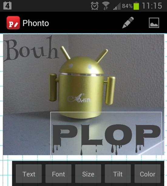 Android - Du texte sur l'image, Phonto