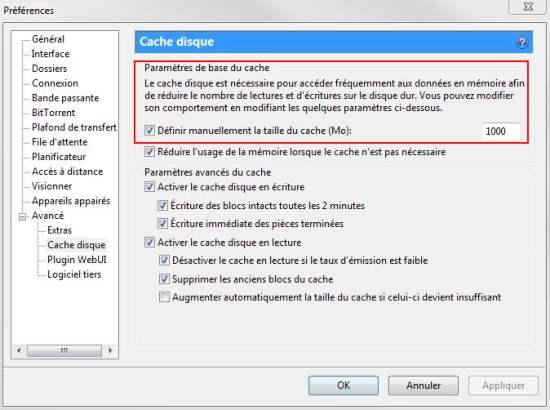 utorrent-cache-disque