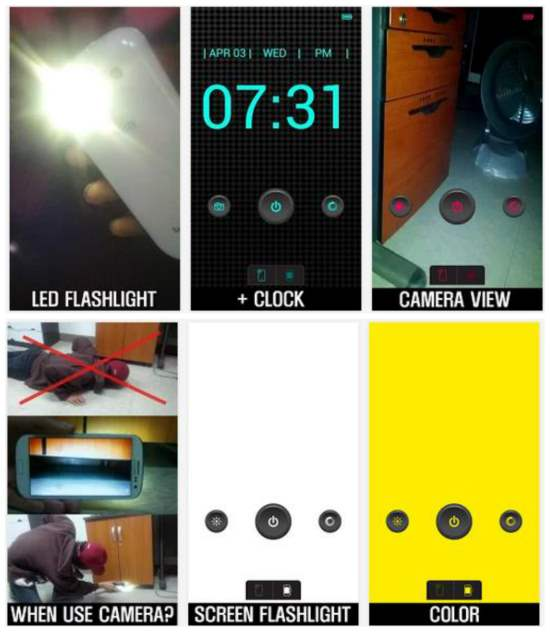 Une lampe de poche pour Android, Lampe Torche