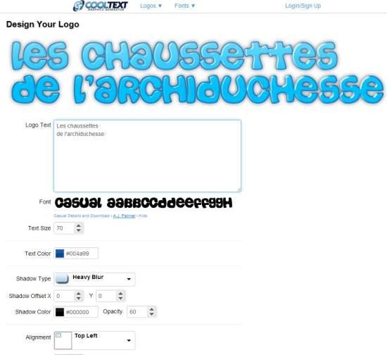 cooltext-interface