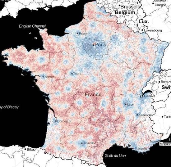 La France en 2 278 213 pixels, les bleus et les rouges