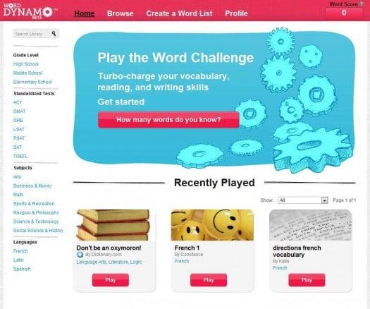 Apprendre l'anglais et préparation au Toefl, Word Dynamo