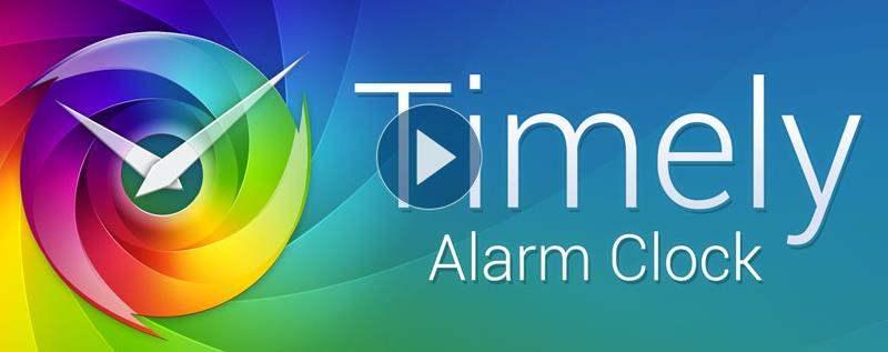 Un réveil matin esthétique et gratuit pour Android, Timely