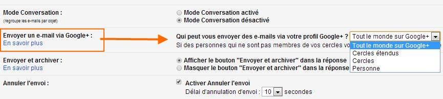 gmail-parametre-g+