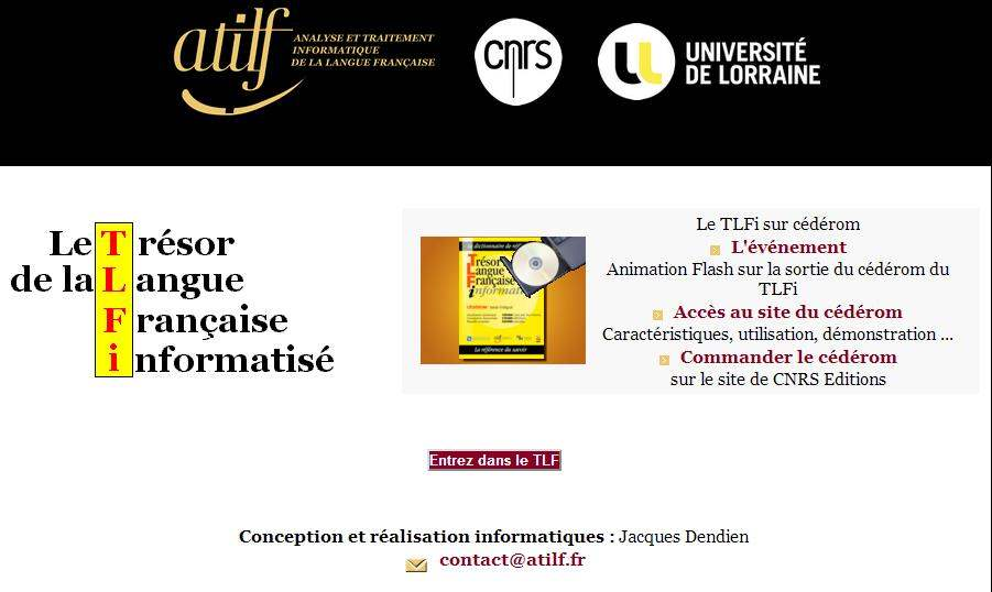 Le trésor de la langue française automatisé, TLFI